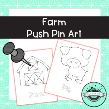 Farm Push Pin Art