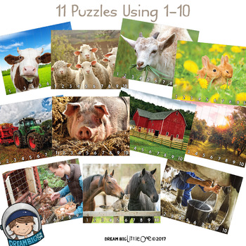 Farm Puzzle (Number and Letter Recognition with Real Photos)