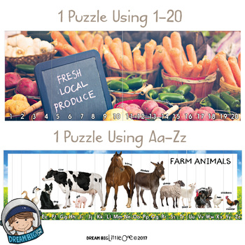 Farm Puzzle (Math and Literacy with Real Photos) Pre-k and Kindergarten
