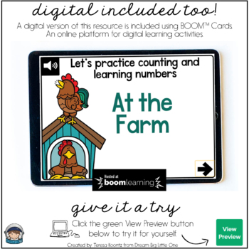 Farm Puzzle - Self Correcting (Counting & Number Recognition 1-20)