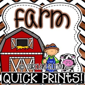 Farm Quick Prints : No Prep