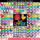 Farm Rainbow Clip Art Bundle