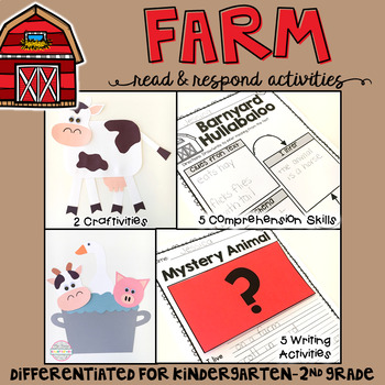 Farm: Reading Comprehension, Writing and Craftivities