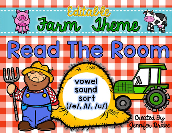 Farm Read the Room *EDITABLE*