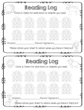 Farm Reading Logs