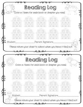 Farm Reading Logs