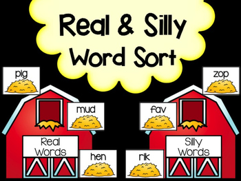 Farm: Real & Silly Word Sorting