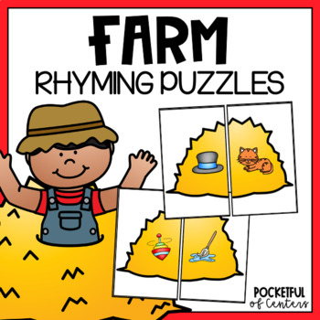 Farm Rhyming Puzzles
