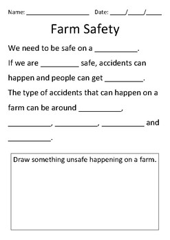 Farm Safety Cloze Activity