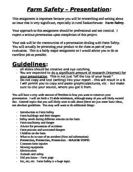Farm Safety Presentation Assignment