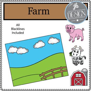 Farm Scene (JB Design Clip Art for Personal or Commercial Use)