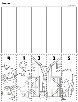 Farm Scene Number Sequence Puzzles