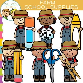 School Supplies Farmer Clip Art