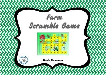 Farm Scramble Word Quiz Games