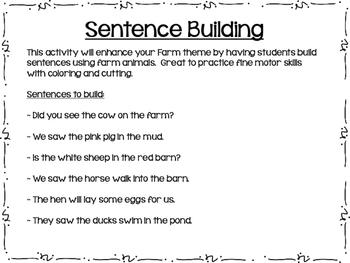 Farm Sentence Building
