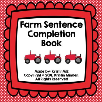 Farm Sentence Completion Book