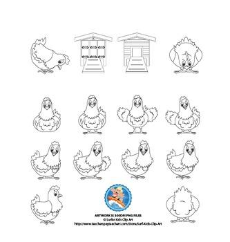 Farm Set: Hens