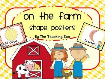 Farm Shape Identification Posters