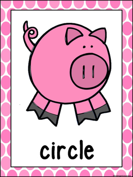 Shape Posters (pigs)