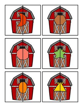 Farm Shape Puzzles