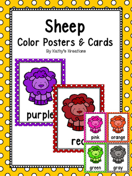 Farm/Sheep Color Word Posters & Memory Cards