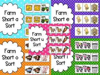 Farm: Short Vowel Word Family Sorts