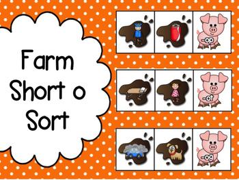 Farm: Short o Word Family Sorts