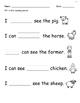 Farm Sight Word Velcro Book (Adapted Book)