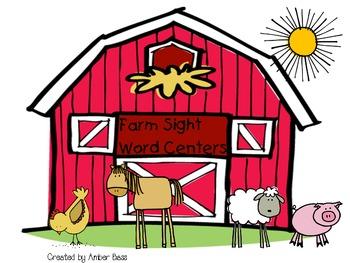 Farm Sight Word Centers