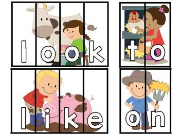 Farm Sight Word Puzzles