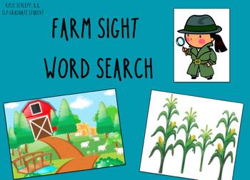 Farm Sight Word Search