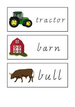 Farm Sight Words