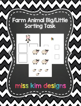Farm Sizes Sorting Folder Game for Early Childhood Special