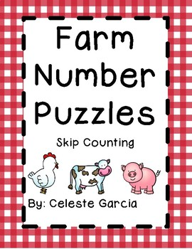 Farm Skip Counting Puzzles