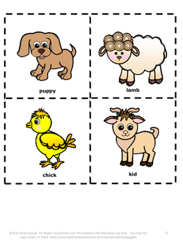 Farm Animals Sorting Lunch Sack Book Fine Motor Activities Special Education