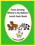 Farm Animals Sorting Lunch Sack Book Fine Motor Activities