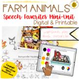 Farm Speech Therapy Mini Unit | Digital & Printable