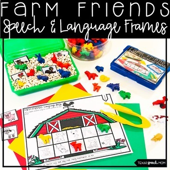 Farm Speech Therapy: No Prep Articulation and Language Frames