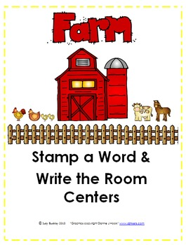 Farm Stamp a Word Write the Room