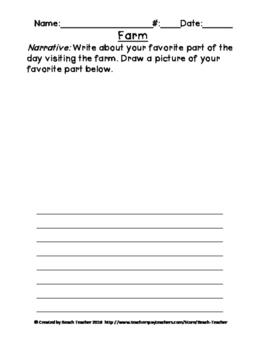 Farm Field Trip Writing