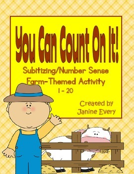 Farm Subitizing & Number Sense:  Tally Marks, Dice, and Te