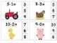 Farm Subtract & Clip 0-10 (Math Center Task Cards)
