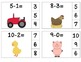 Farm Subtract & Clip 0-10 (Math Center Task Cards)