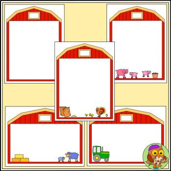 Farm Task Card Templates - Color and b/w