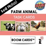 Farm Animal BOOM Cards™ Task Cards - Real Photos!