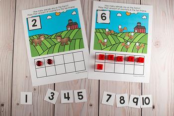 Farm Ten Frame Game  (Pre-K + K Math)
