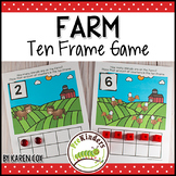 Farm Ten Frame Game  (Pre-K + K Math)