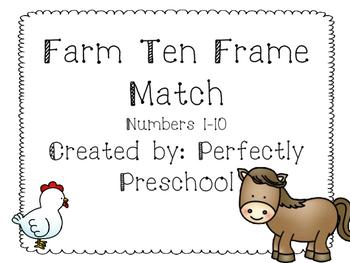 Farm Ten Frame Match