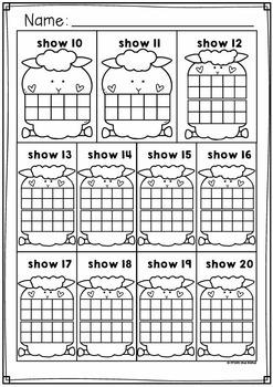 Farm Ten and Twenty Frame Activity Cards