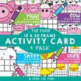 Farm Ten and Twenty Frame Activity Cards